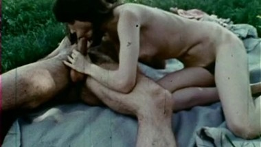 Jeffrey Hurst and vintage chick hot outdoor sex 1975