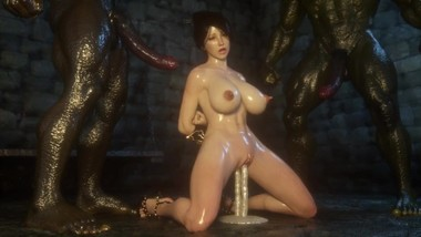 3D Porn Monster Cock for Magic Girl. Hentai 3D