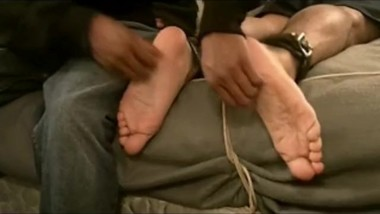 Tony gets Foot Tickled-Vintage Str8 Guys Tickled