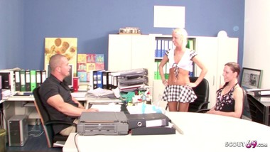 TEACHER SEDUCE TWO SCHOOL GIRL TO FUCK - GERMAN VINTAGE