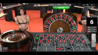 Hot Dealer(Croupier) Myla Shows Her Sexy Ass And Big Tits Online Roulette