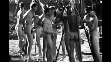 COLLECTION OF SPYCAM CLIPS OF WWII SOLDIERS ~ SHOWERS, EXAMS, ETC -(A?A?A?)-