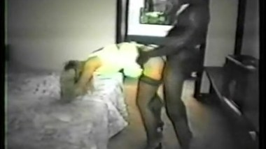 Vintage Hotwife fucked by Black Bull while Husband films