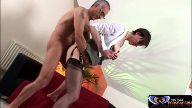 British milf fucked by older guy Vintagepornbay.com
