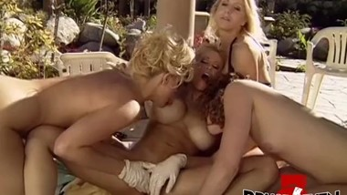 BRUCESEVENFILMS - Gina Lynn in outdoor dyke foursome party