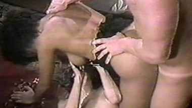 hot interracial threesome in the living room 2 - VHS lovers