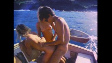 Vintage Orgy Action On A Boat