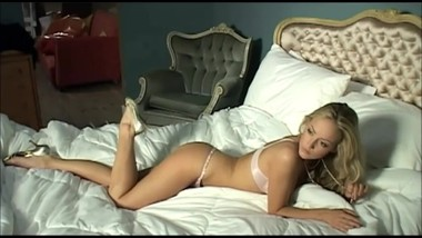Blonde Model Charon in Satin & Lace Lingerie is Dangerously Hot in Bed !!