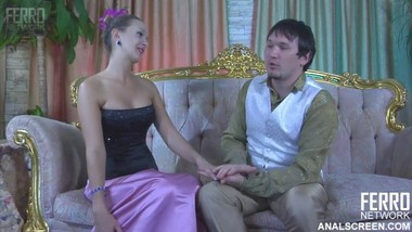 Analscreen Denis - Vintage corset anal and creampie