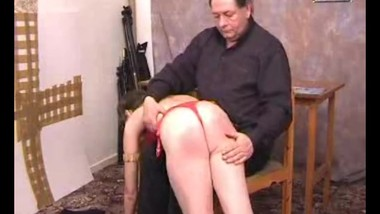 Ugly father spanks nice daugther