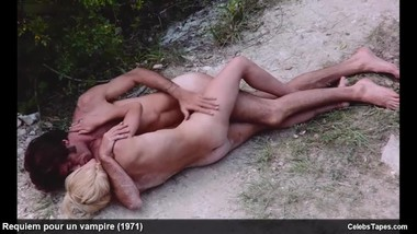 Marie-Pierre Castel & Mireille Dargent frontal nude and rough sex scenes